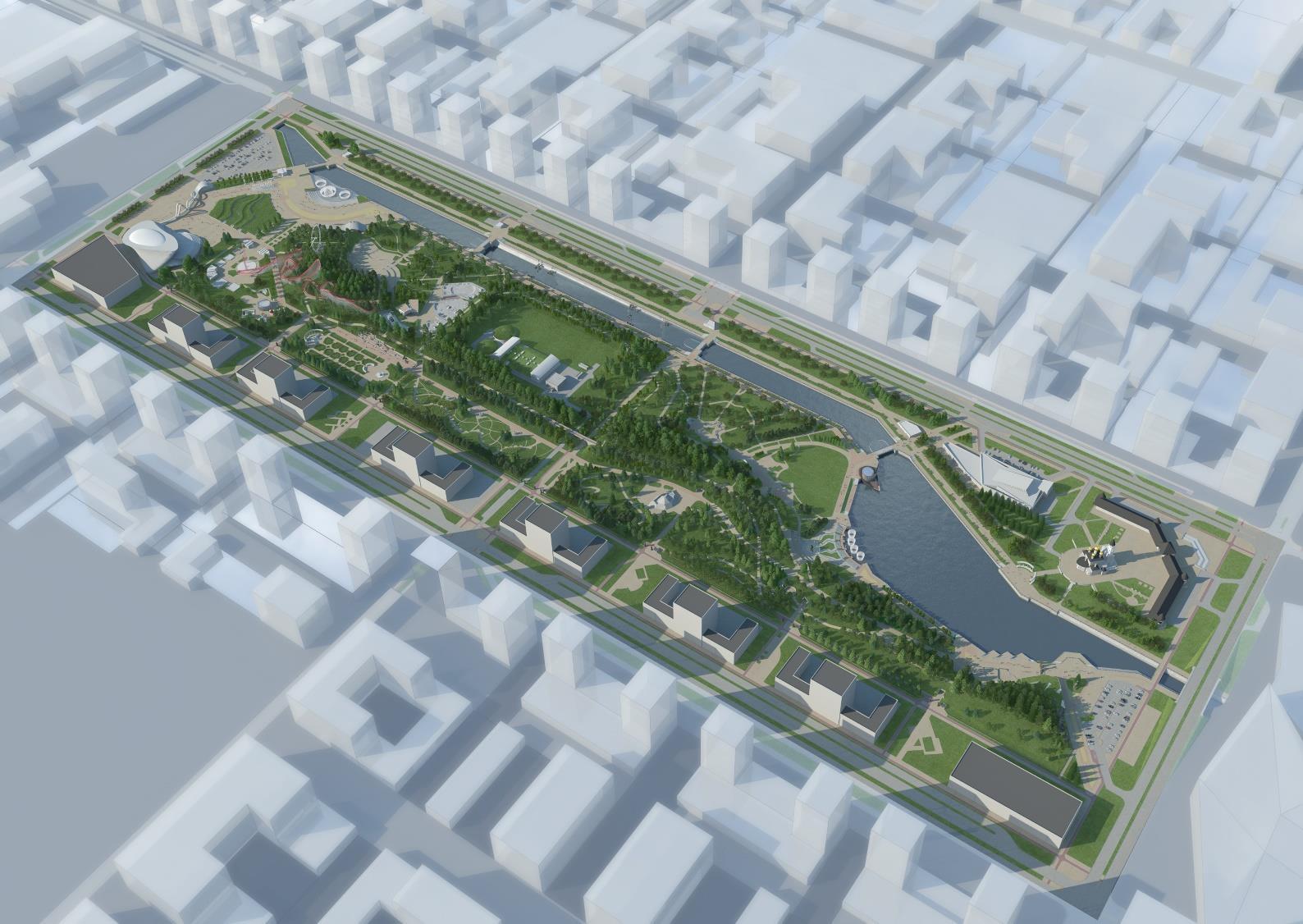 Парк в «Академическом» — концепция развития Преображенского парка в районе Екатеринбурга «Академический». Визуализация проектного решения