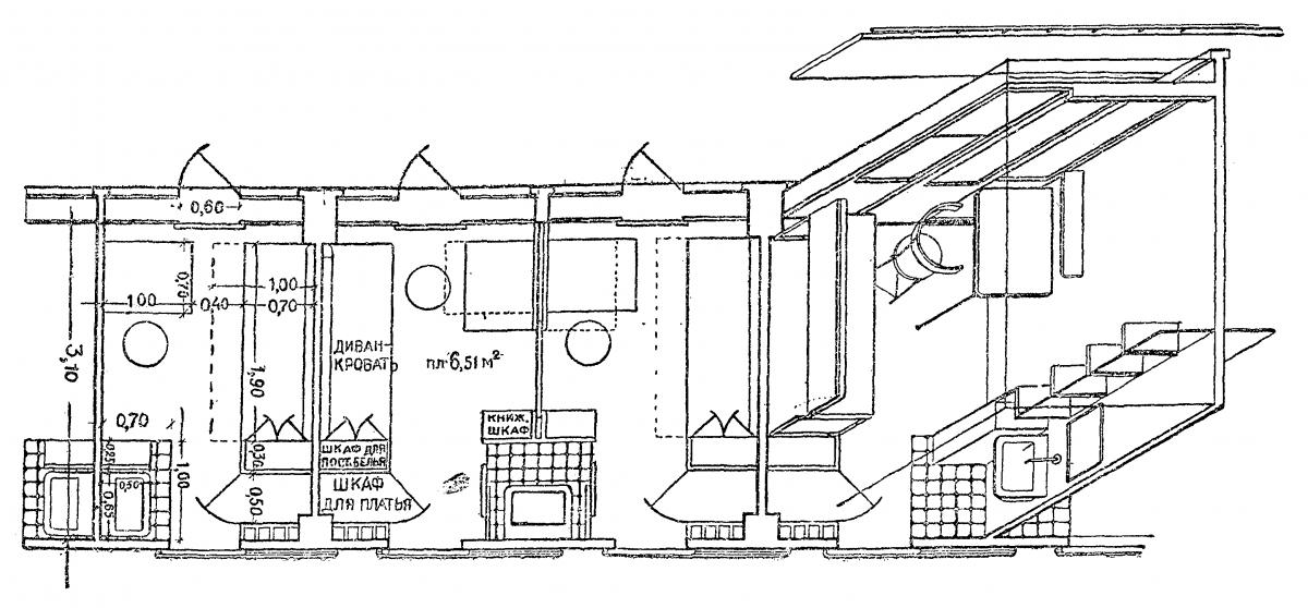 Схемы жилых комнат для