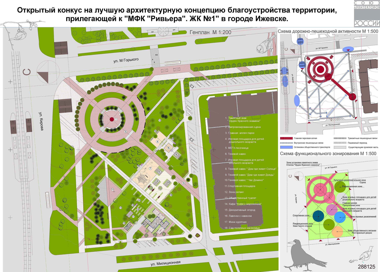 Схема благоустройства городских территорий
