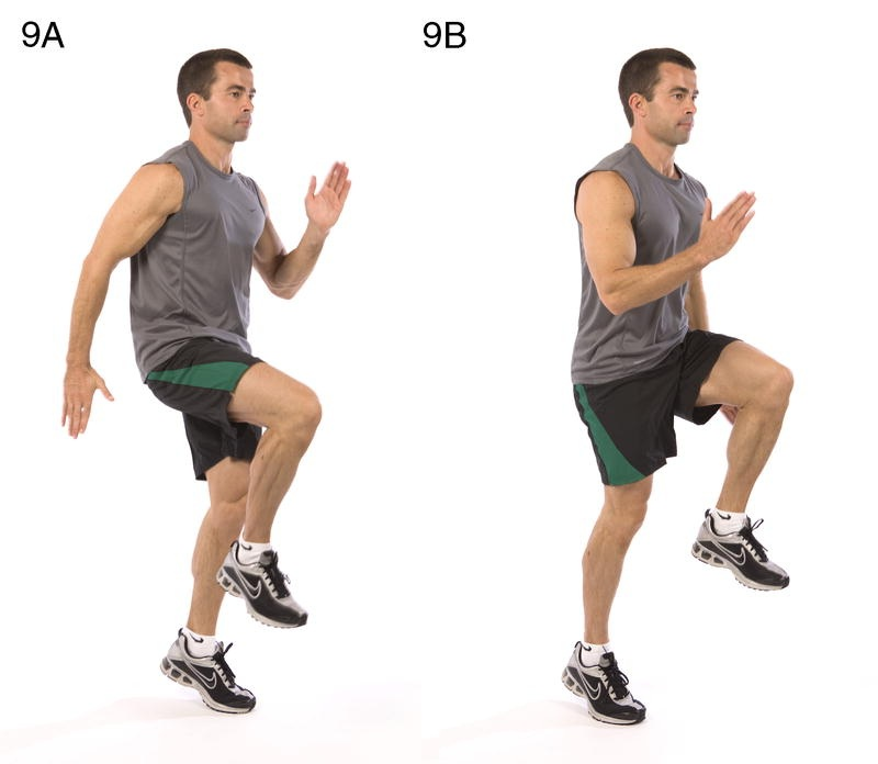 High Knees Running in Place