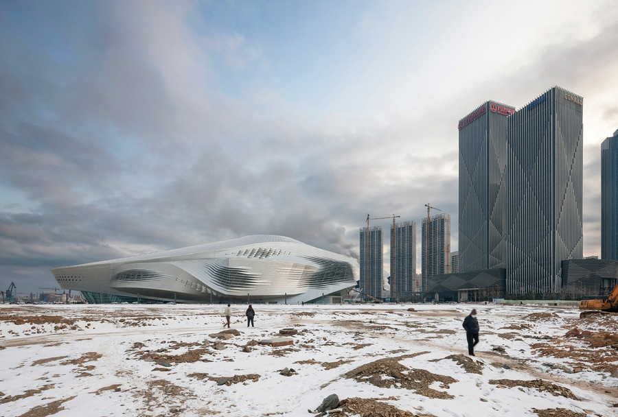 Overall Runner-Up: Duccio Malagamba. Project: Dalian Congress Centre (CHINA) by Coop Himmelb(l)au Architects