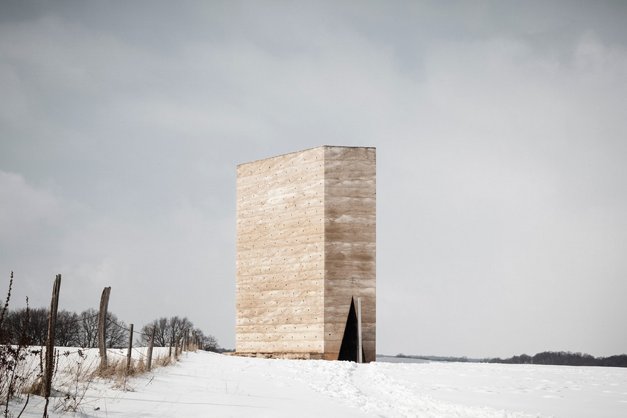 Shortlisted: Tim Van De Velde. Exterior. Project: Bruder Klaus Kapelle (GERMANY) by Peter Zumthor