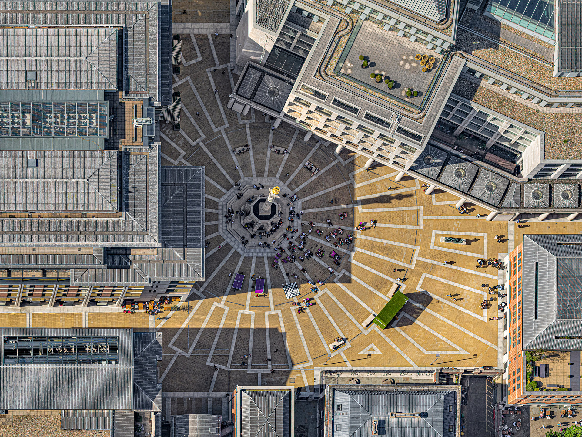 © Bernhard Lang. Aerial Views: London. 2019. PATERNOSTER-SQUARE