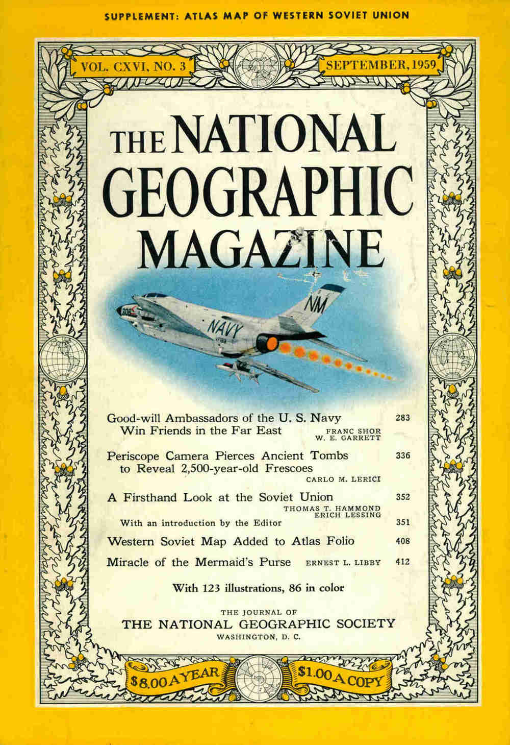 National Geographic Magazine. — 1959. — Iss. September. — No. 9