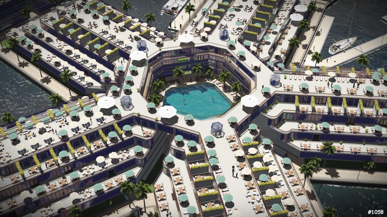 Конкурс эскизных проектов плавающих городов, 2015. 1-е место. Artisanopolis. Авторы проекта: Gabriel Sheare, Luke & Lourdes Crowley, and Patrick White (Roark 3D)