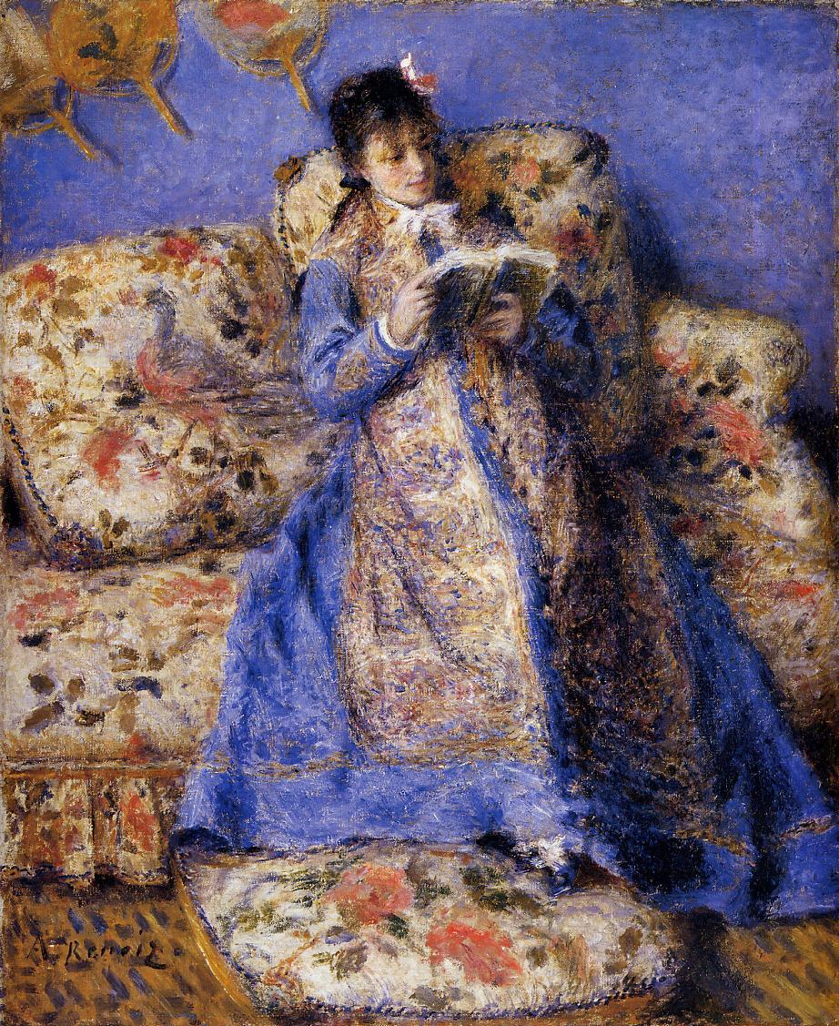 Camille Monet Reading (1872) — Пьер Огюст Ренуар (Pierre-Auguste Renoir)