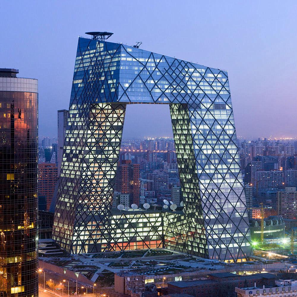 здание центрального телевидения Китая