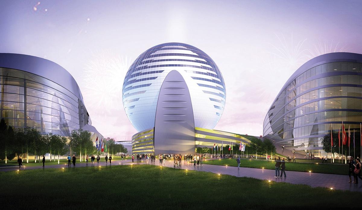 Комплекс ЭКСПО-2017. Проект-победитель компании Adrian Smith + Gordon Gill Architecture