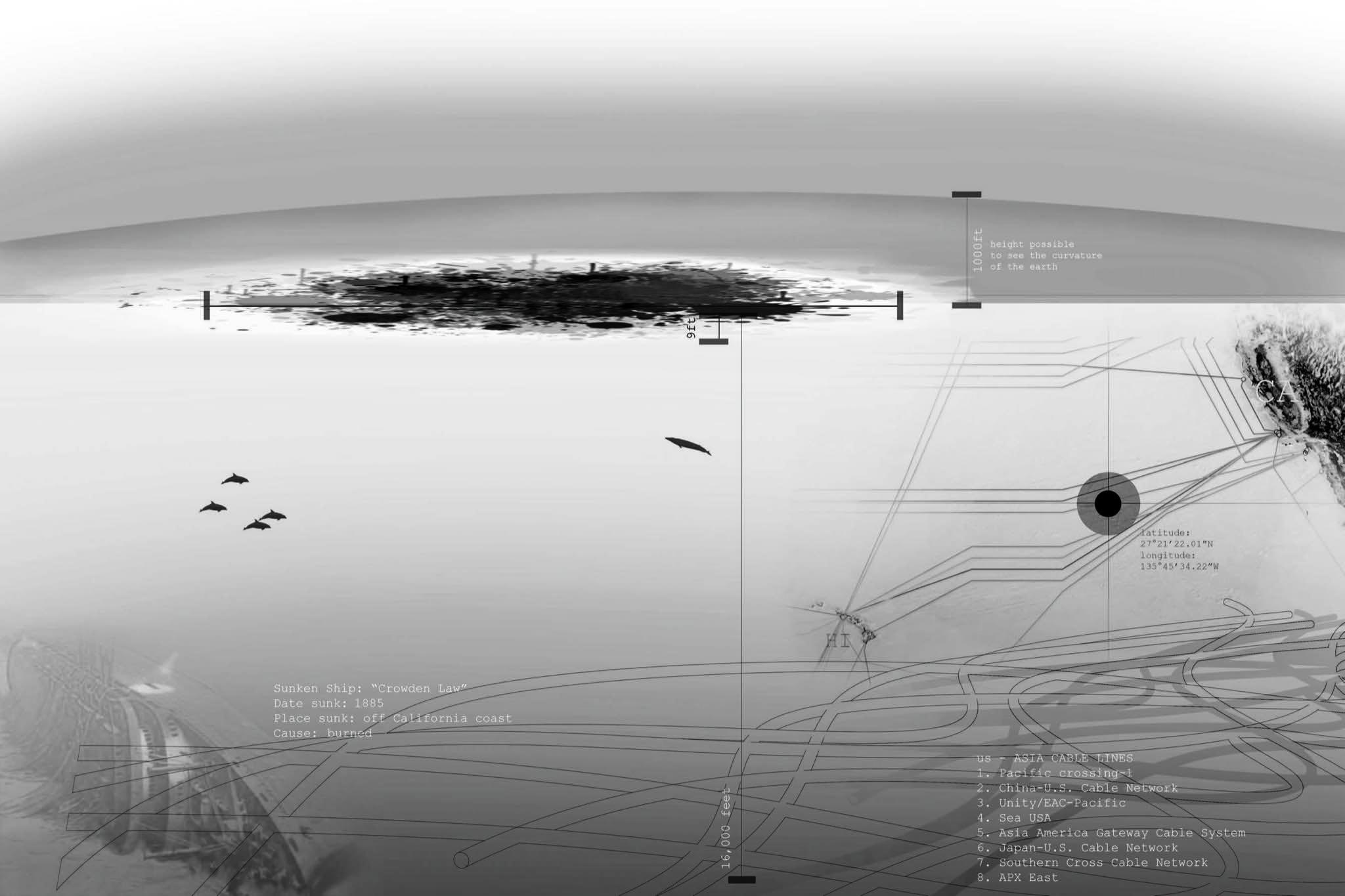 Конкурс эскизных проектов плавающих городов, 2015. Особо отмечен жюри. Fantasea. Автор проекта: Derek Ramsey (Cal Poly)