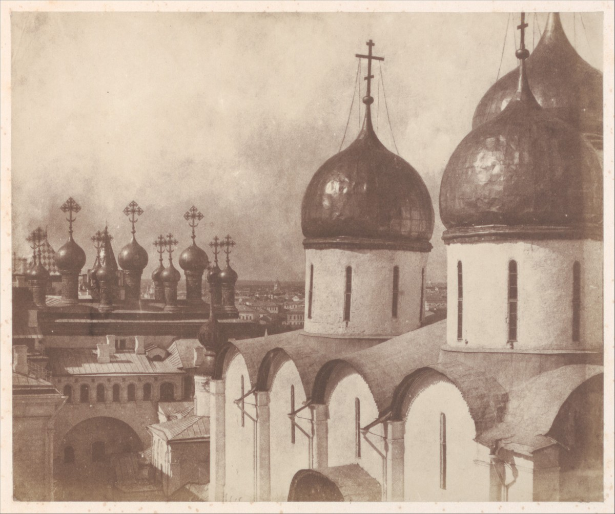 Moscow, Domes of Churches in the Kremlin / Roger Fenton / 1852