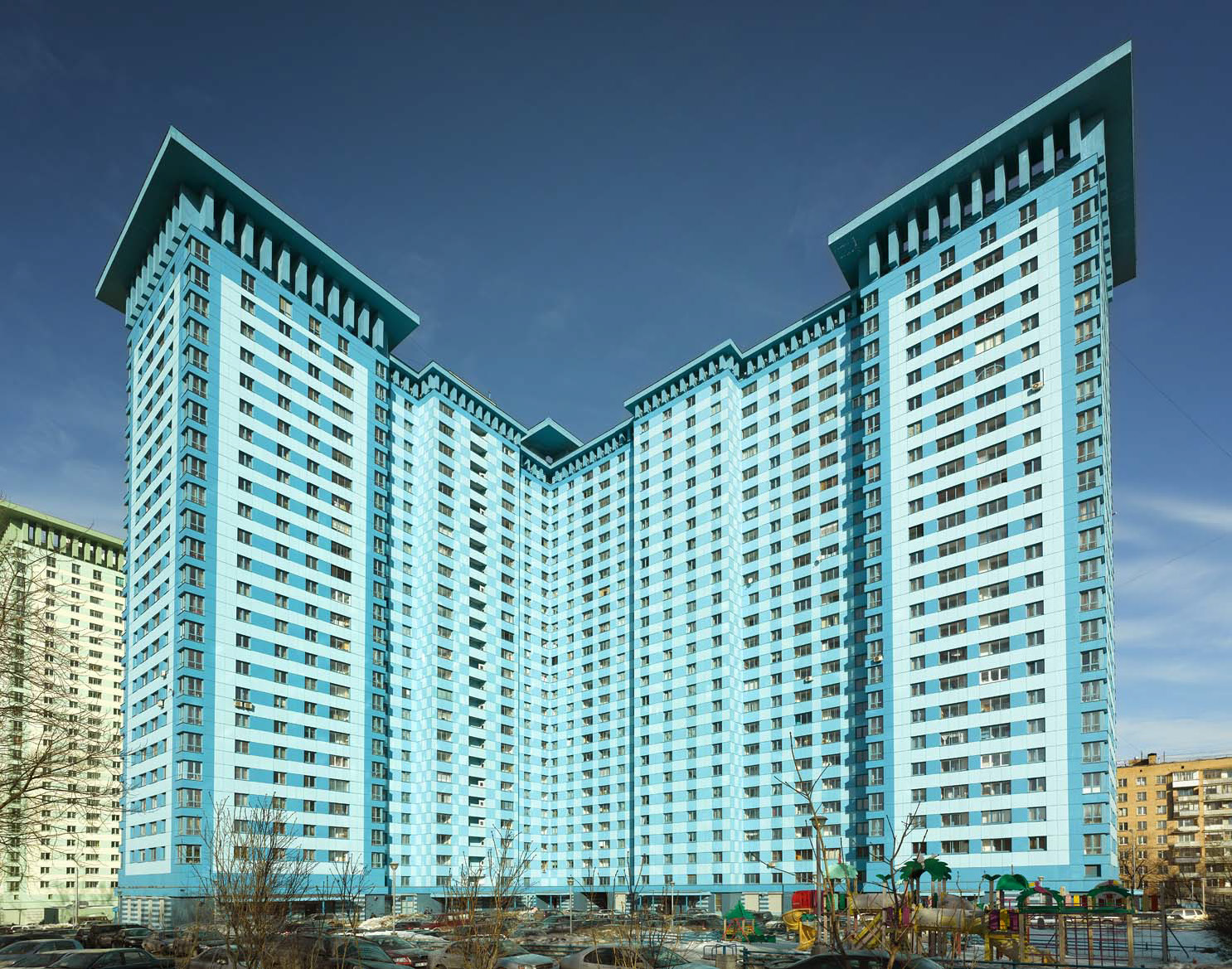 Жилой комплекс в Москве.