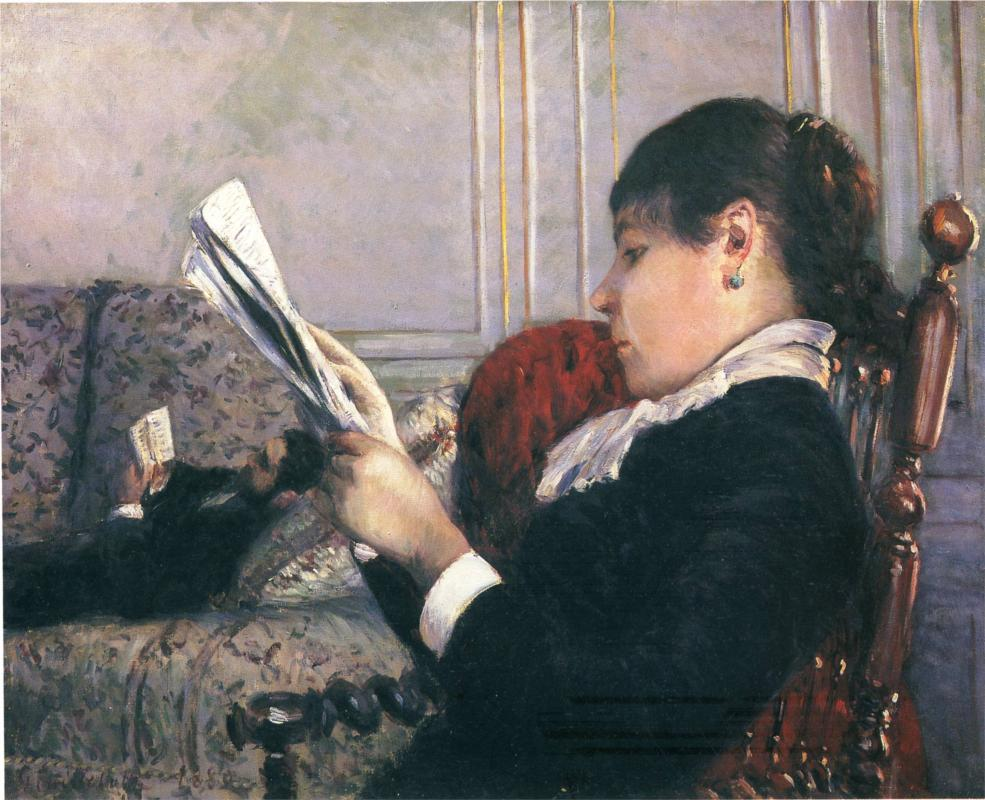 Interior, Woman Reading (1880) — Гюстав Кайботт (Gustave Caillebotte)