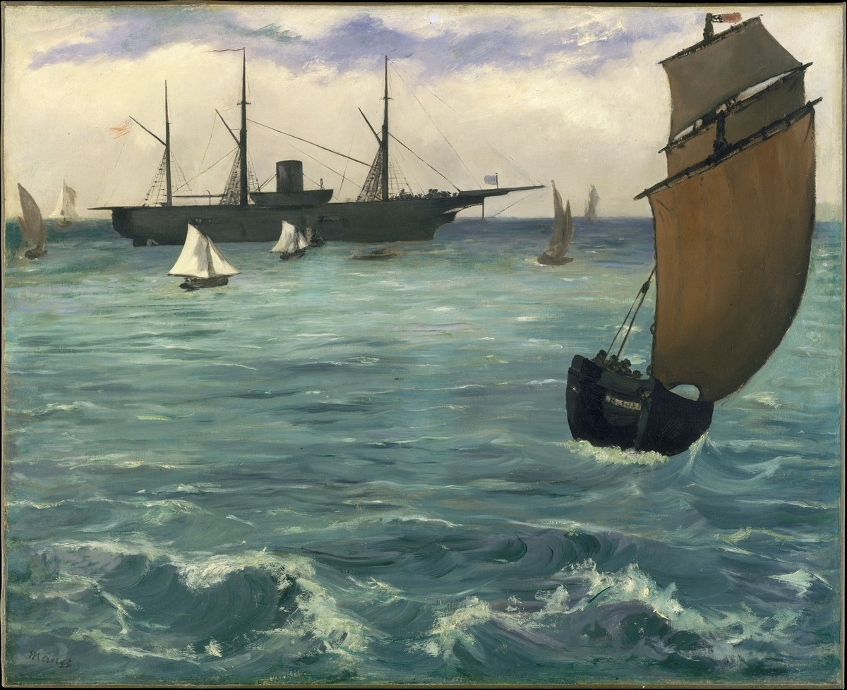 "The ""Kearsarge"" at Boulogne / Édouard Manet / 1864"