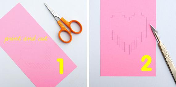 Как сделать объемное сердце открытка