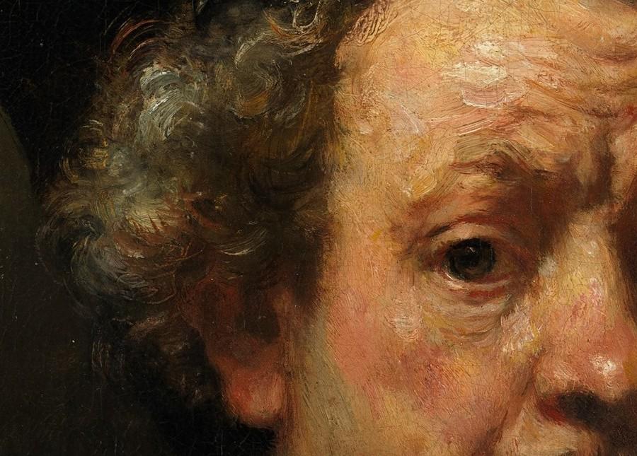 В качестве показательного примера можно указать автопортрет Рембрандта 1660 года, который теперь можно рассмотреть во всех деталях