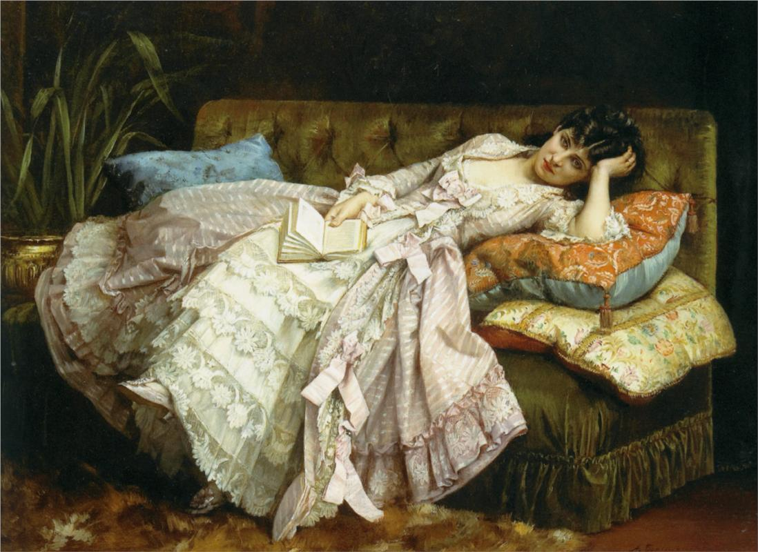 Sweet Doing Nothing (1877) — Огюст Тульмуш (Auguste Toulmouche)