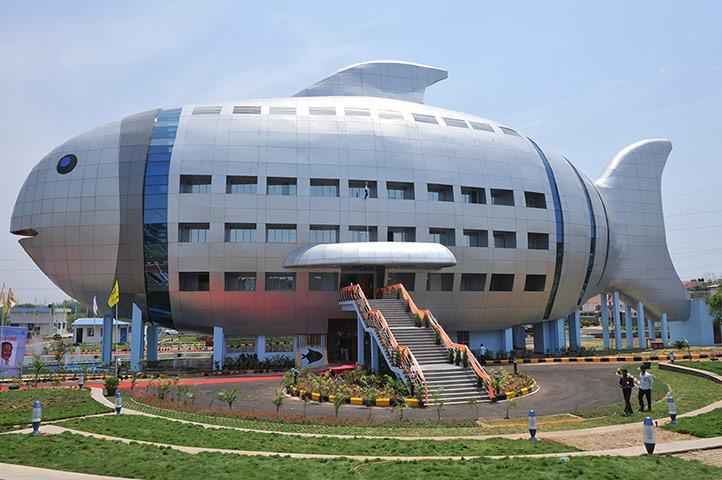 здание-рыба в Индии, Хайдарабад