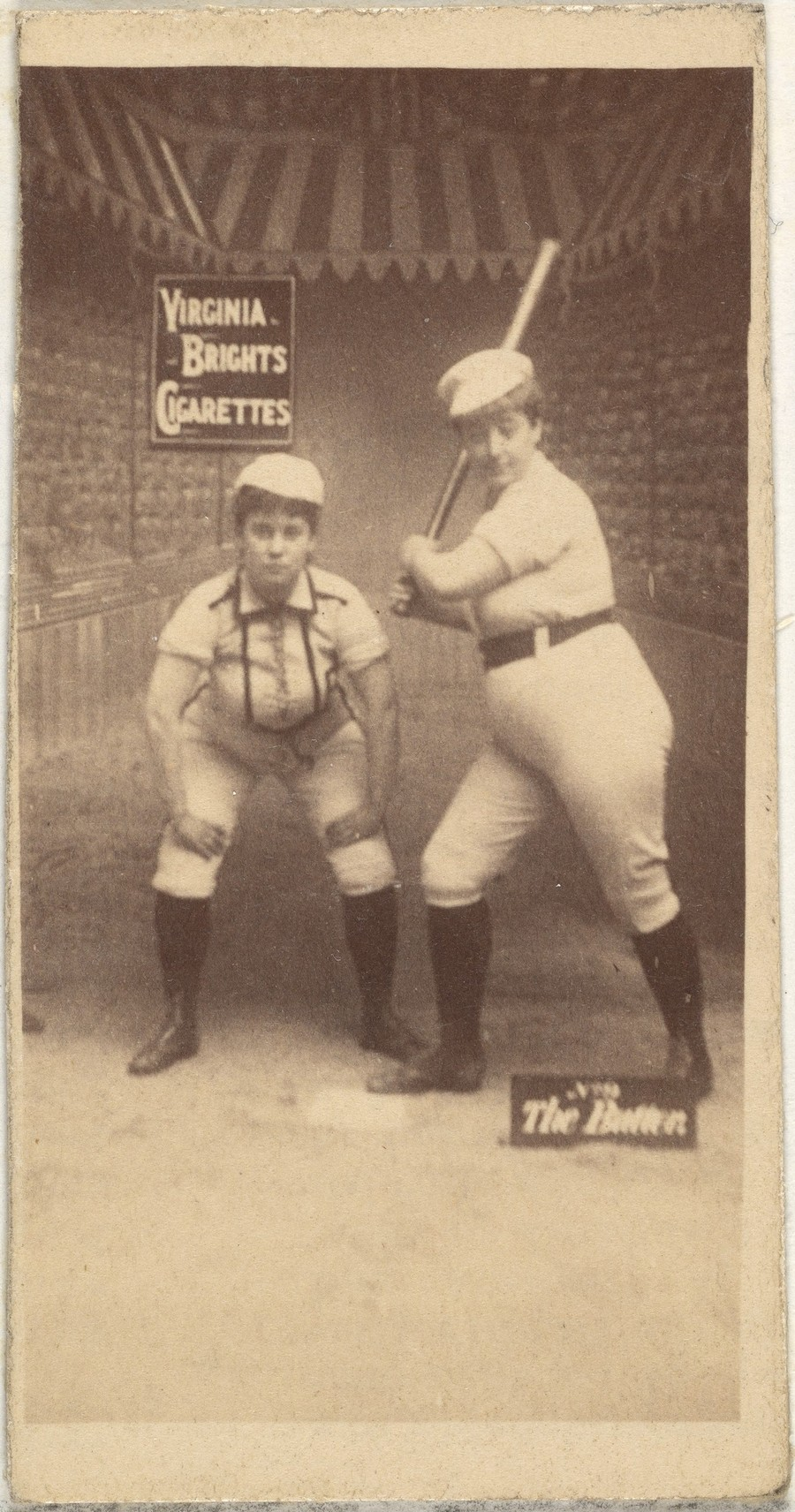 The Batter, from the Girl Baseball Players series (N48, Type 2) for Virginia Brights Cigarettes / 1886