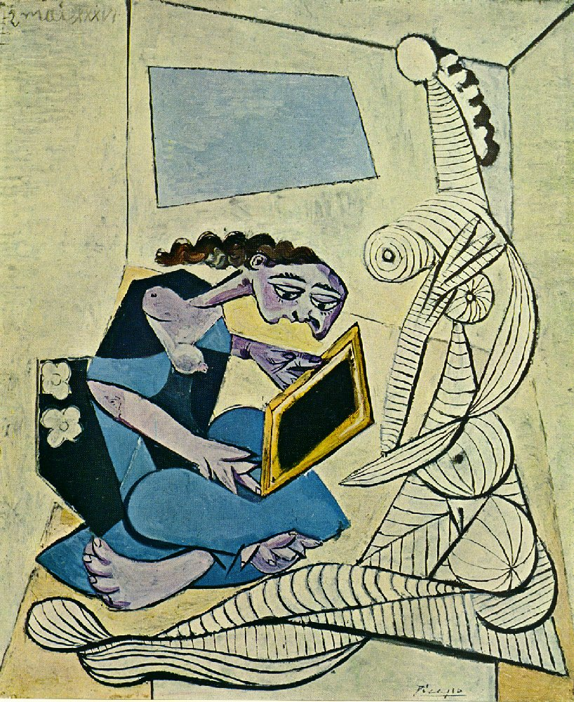 Woman in the Interior (Reading) (1936) — Пабло Пикассо (Pablo Picasso)