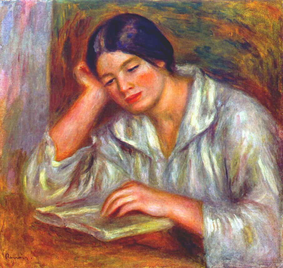 Woman in White (1916) — Пьер Огюст Ренуар (Pierre-Auguste Renoir)