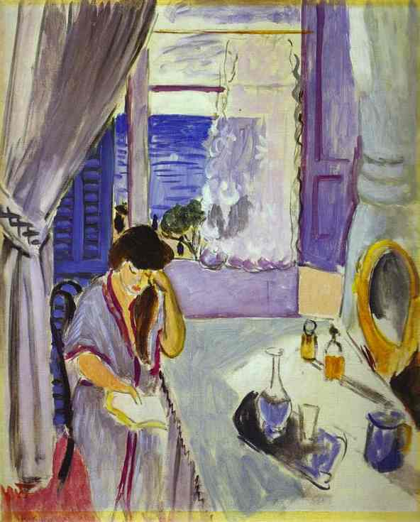 Woman Reading at a Dressing Table (1919) — Анри Матисс (Henri Matisse)