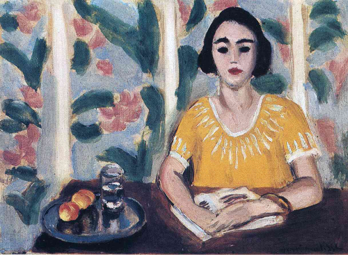 Woman Reading with Peaches (1923) — Анри Матисс (Henri Matisse)