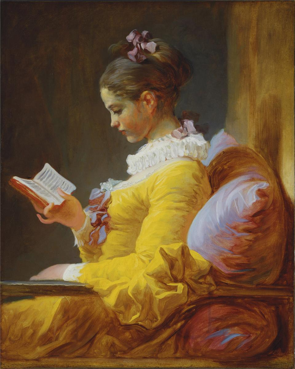 A Young Girl Reading (1776) — Жан Оноре Фрагонар (Jean-Honore Fragonard)