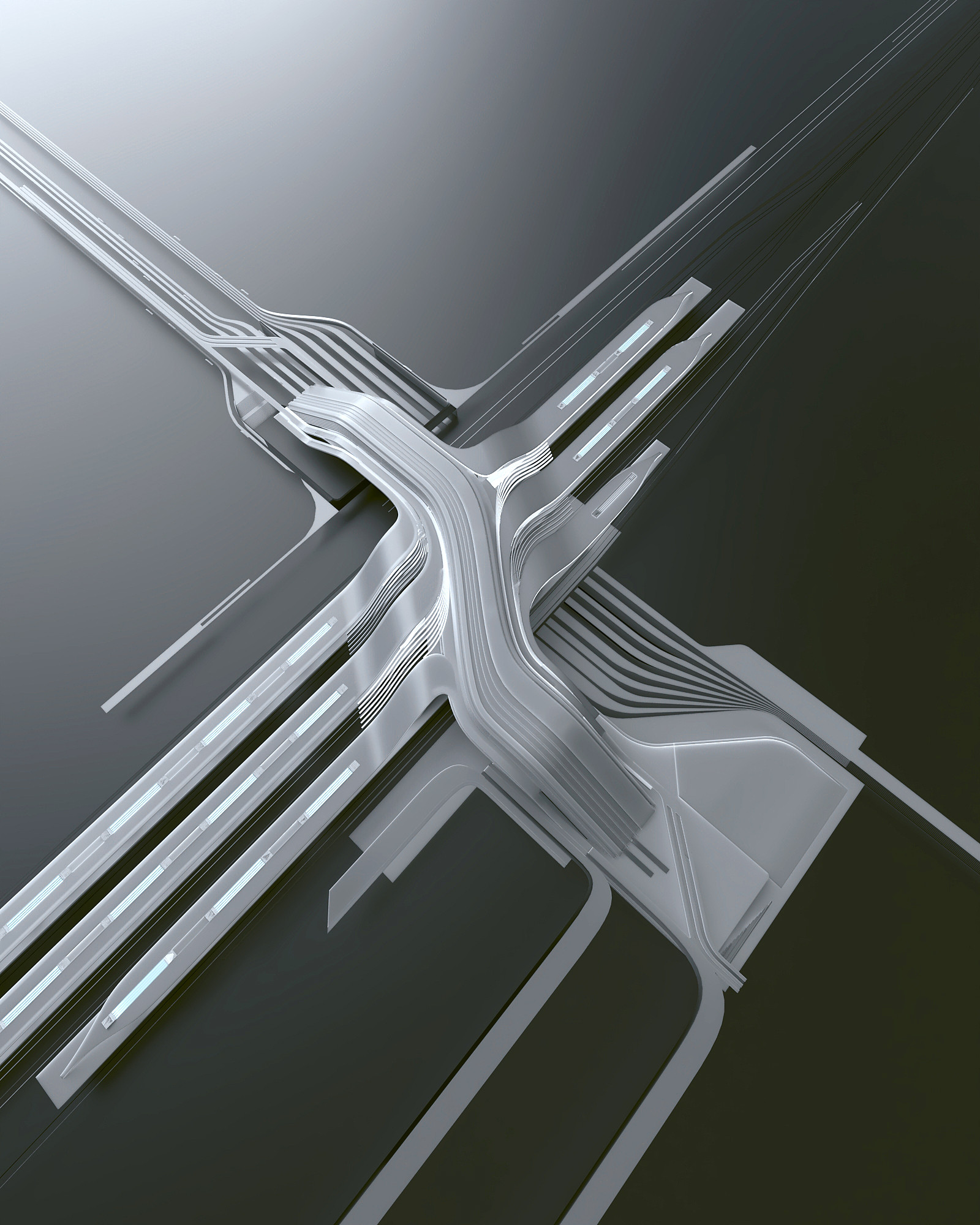 Zaha Hadid Architects. Rail Baltic Ülemiste terminal. 2019. Render