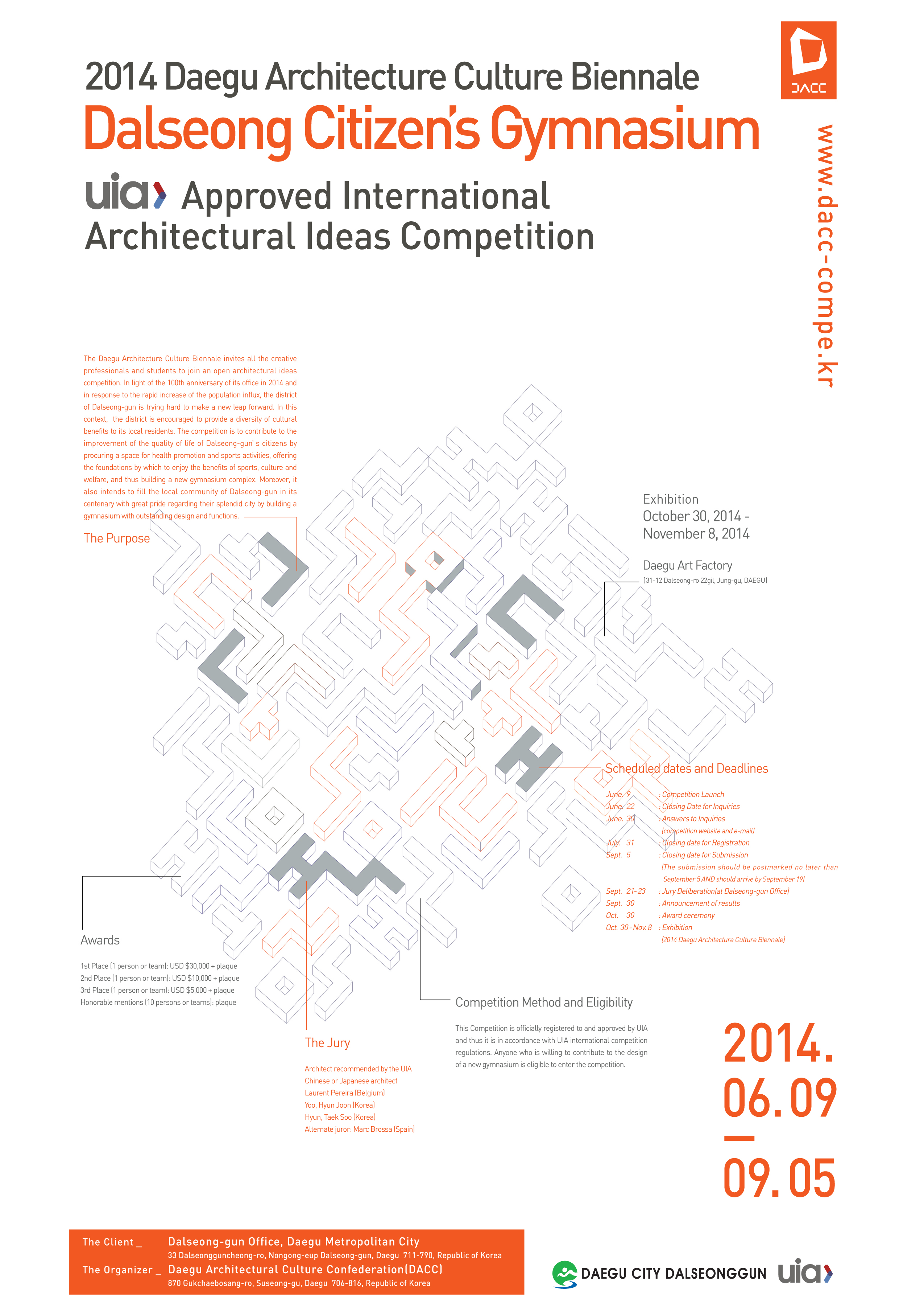 Dalseong Citizen's Gymnasium – International Architectural Ideas Competition