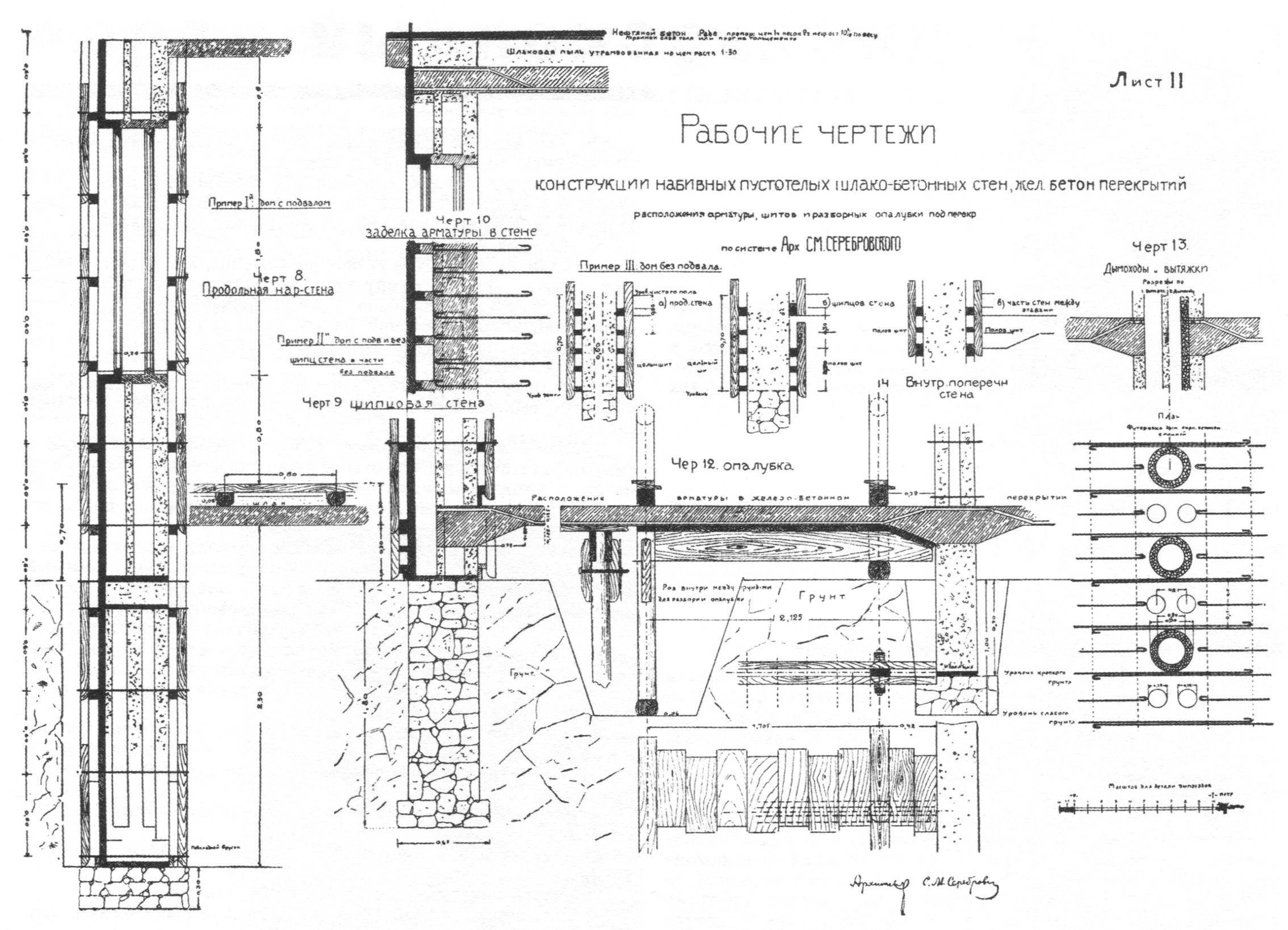 Схема армирования стены одноэтажного дома