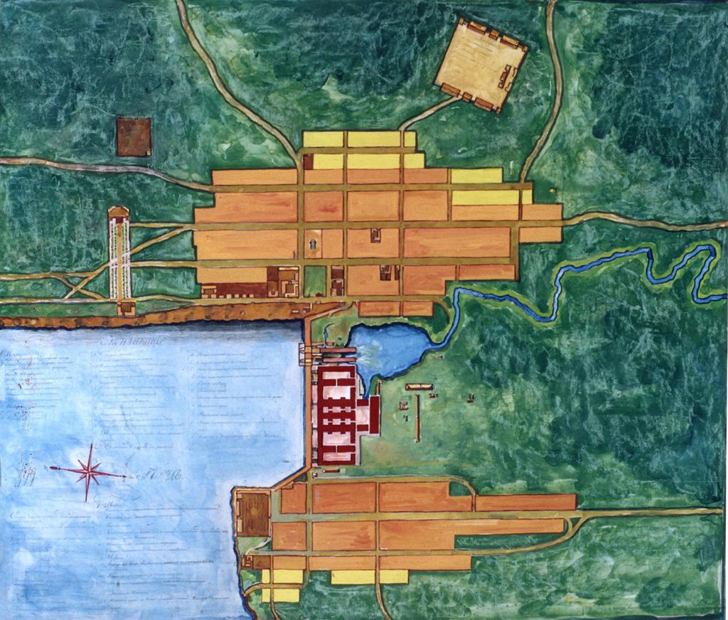 Первый генеральный план Ижевска архитектора С. Е. Дудина. 1808 г.