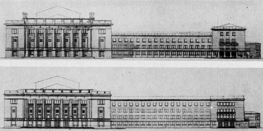 Варианты фасада Дома культуры