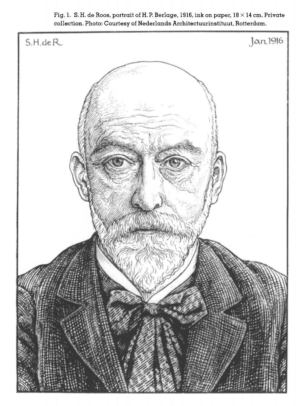 portrait of H. P. Berlage, 1916