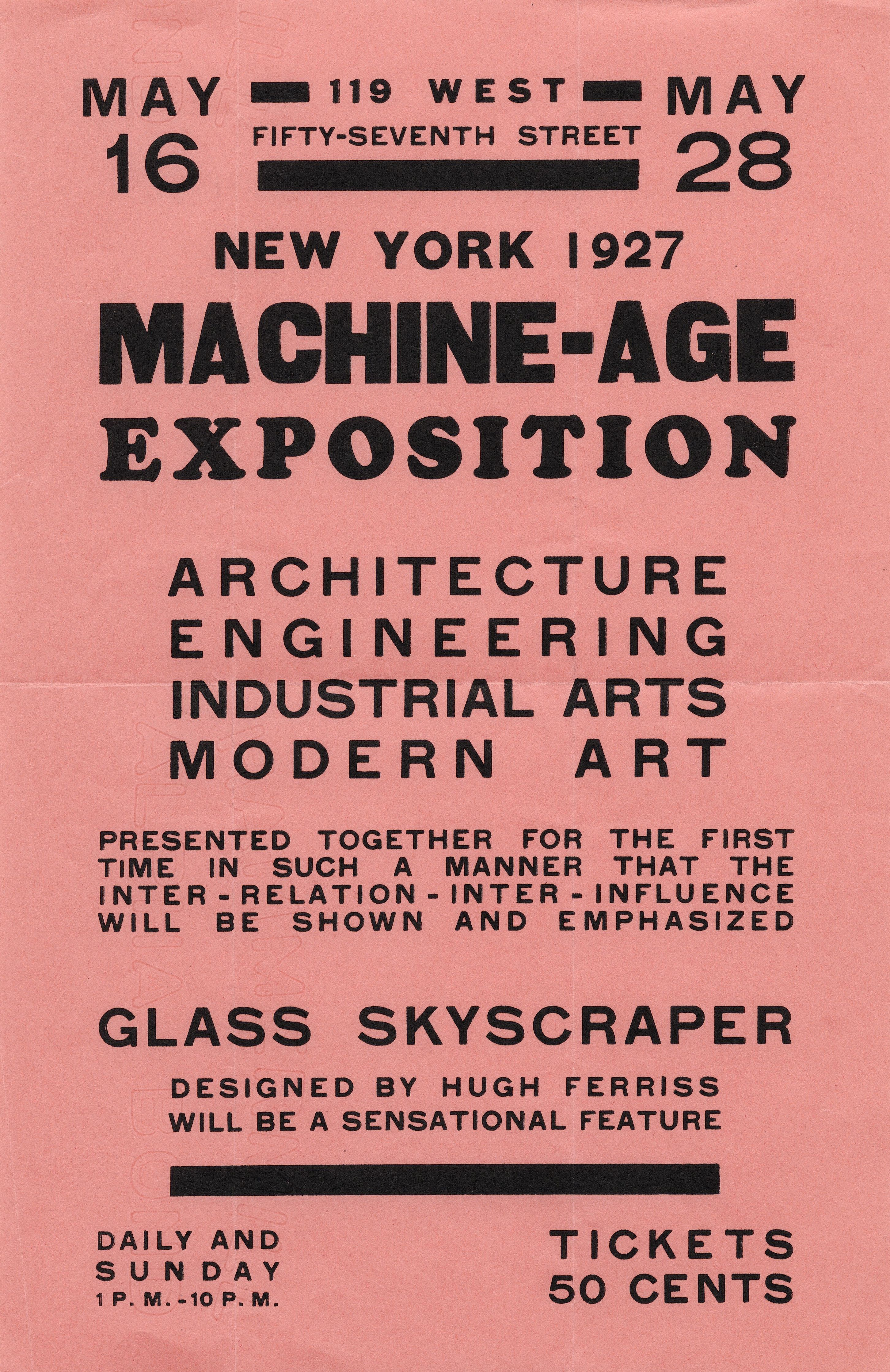 Machine-Age Exposition : Poster. — New York, 1927