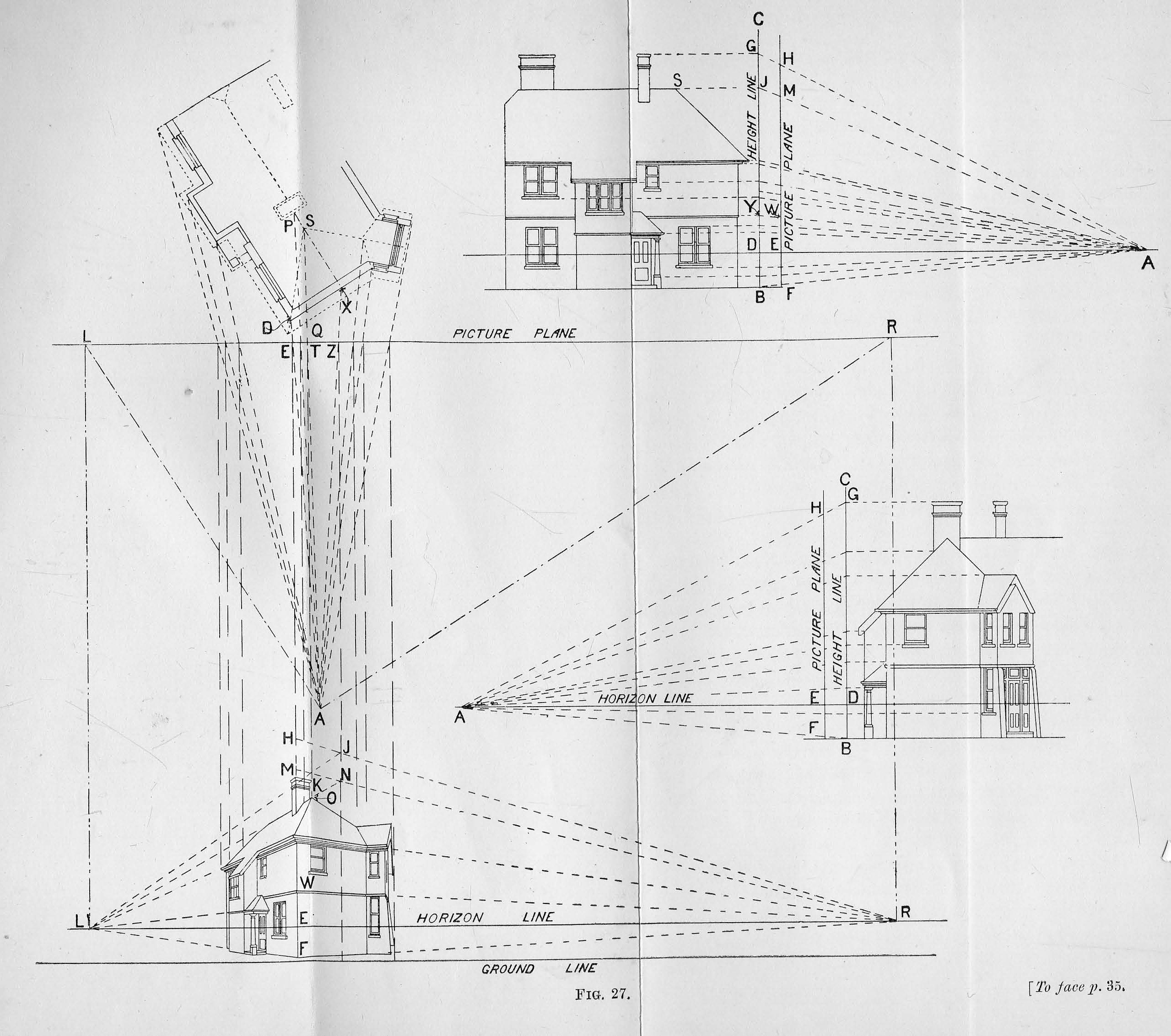 The principles of architectural perspective : prepared chiefly for the use of students : with chapters on isometric drawing and the preparation of finished perspectives : illustrated with fifty-one diagrams and eight drawings by various architects / by G. A. T. Middleton