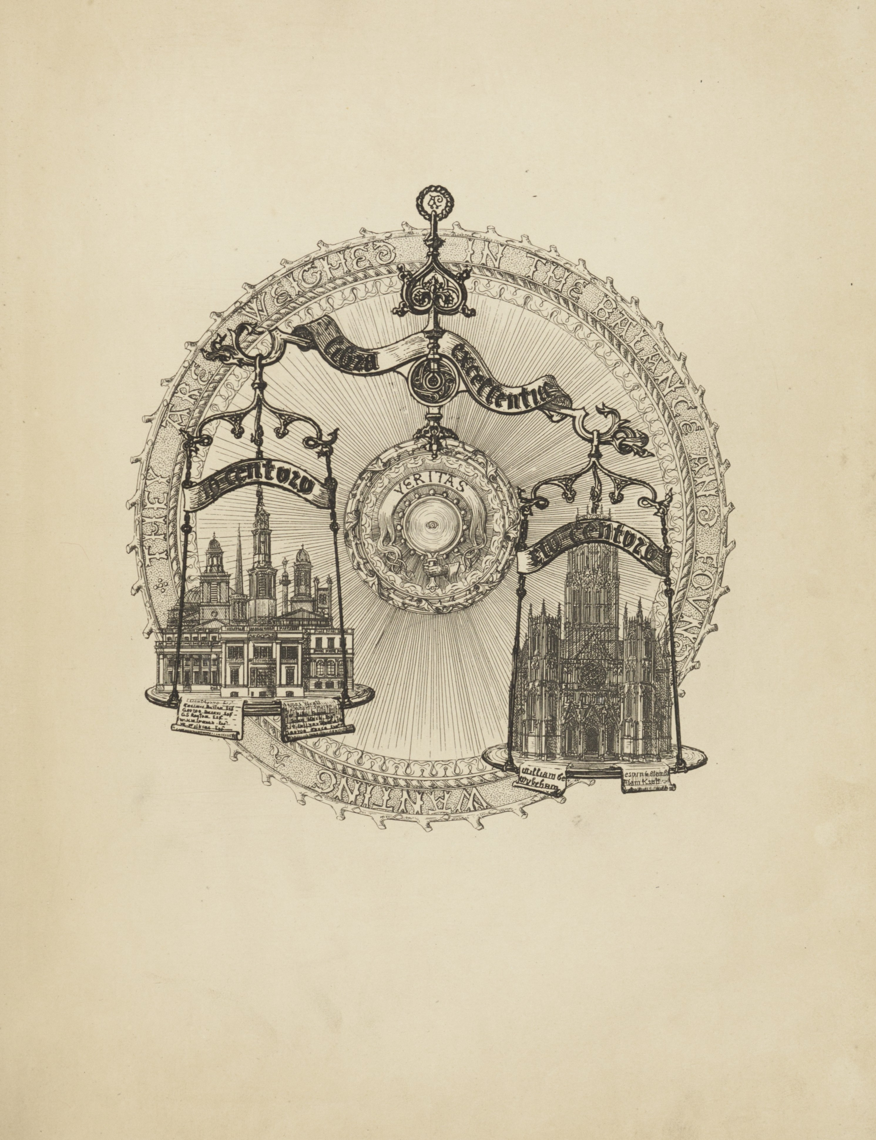Contrasts, or a parallel between the noble edifices of the XIVth and XVth centuries, and similar buildings of the present day / by A. Welby Pugin. 1836