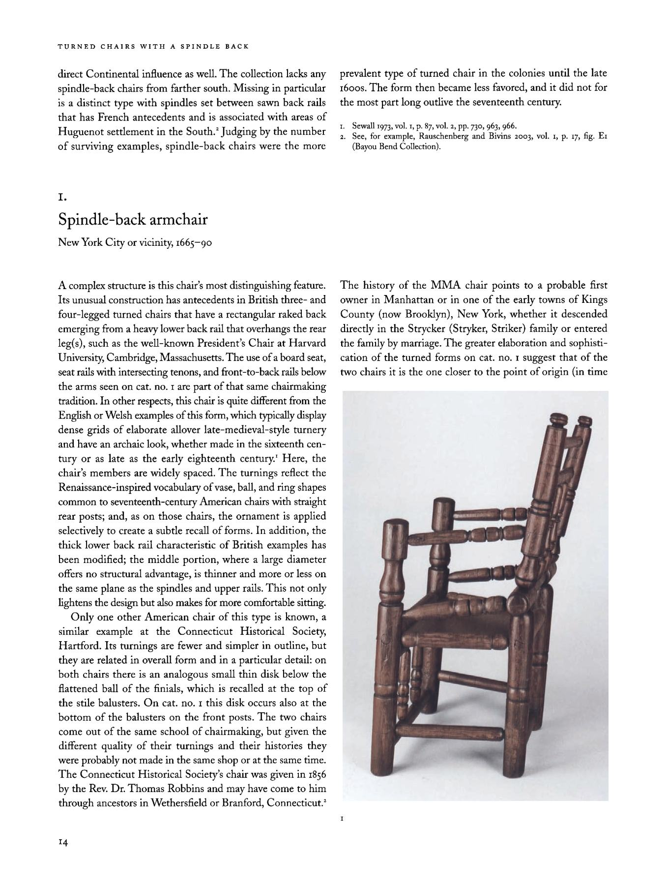 American Furniture in The Metropolitan Museum of Art : Vol. I. Early Colonial Period: The Seventeenth-Century and William and Mary Styles / Frances Gruber Safford