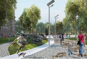 Все проекты конкурса концепций благоустройства территории, прилегающей к «МФК «Ривьера». ЖК №1» в Ижевске