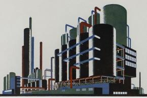 Яков Чернихов. Архитектурные фантазии. 101 композиция в красках. 1933
