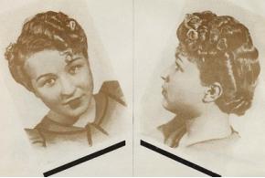 Дамские прически 1939 года. Работы мастеров Ленпромпарикмахерсоюза