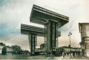 Эль Лисицкий. Горизонтальные небоскребы для Москвы. Wolkenbügel. 1923—1925