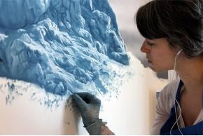 Зария Форман против глобального потепления: фотореалистичные картины ледников и океанических приливов