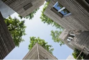 Деревья растут на крышах вьетнамского дома, построенного Vo Trong Nghia Architects