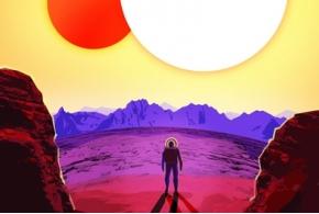 Серия винтажных постеров НАСА предлагает посетить недавно открытые экзопланеты