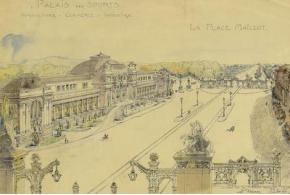 Henri-Paul Nénot, R. Le Boeuffle. Palais des sports, agriculture, commerce, industrie. Paris. 1911