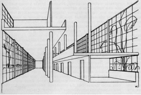 В. Вельман. Дом-коммуна | М.Барщ и В.Владимиров. Схема дома-коммуны. 1929