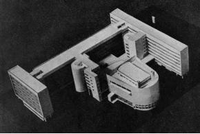 Ле Корбюзье и П. Жанере. Проект дома Центросоюза (последний вариант). 1929
