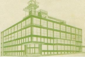 Б. Вендеров. Центральный телеграф в Москве. Выставка конкурсных проектов. 1926