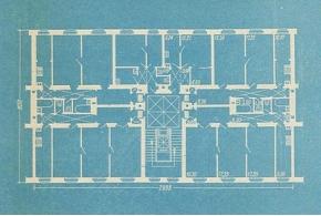 Архитектор И. Л. Длугач. Рациональное расселение — основа проектирования жилой секции. 1941