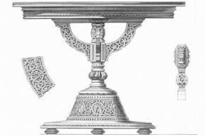 Мебель в спальне г. Башмакова: «русский стиль» в интерьере 1870-х